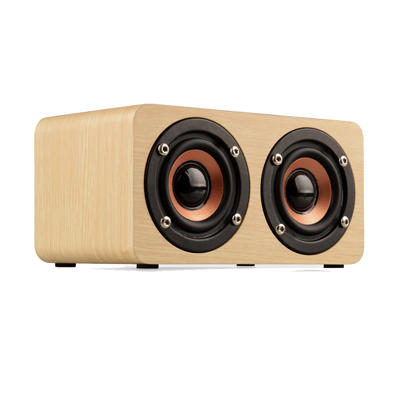 New Wooden HIFI Bluetooth Speaker 10W Dual Loudspeakers Surround Mini Portable Speaker Wood Wireless Computer Speaker for Phone(China (Mainland))