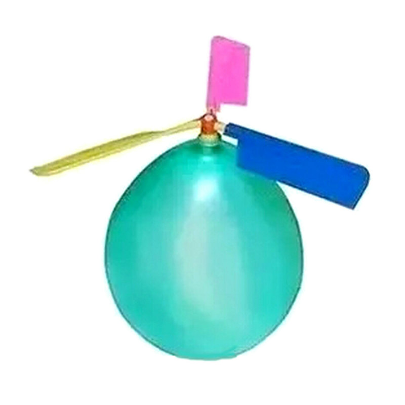 2Pcs Creative Balloon Helicopter Kids Child Children Party Flying Christmas Toy