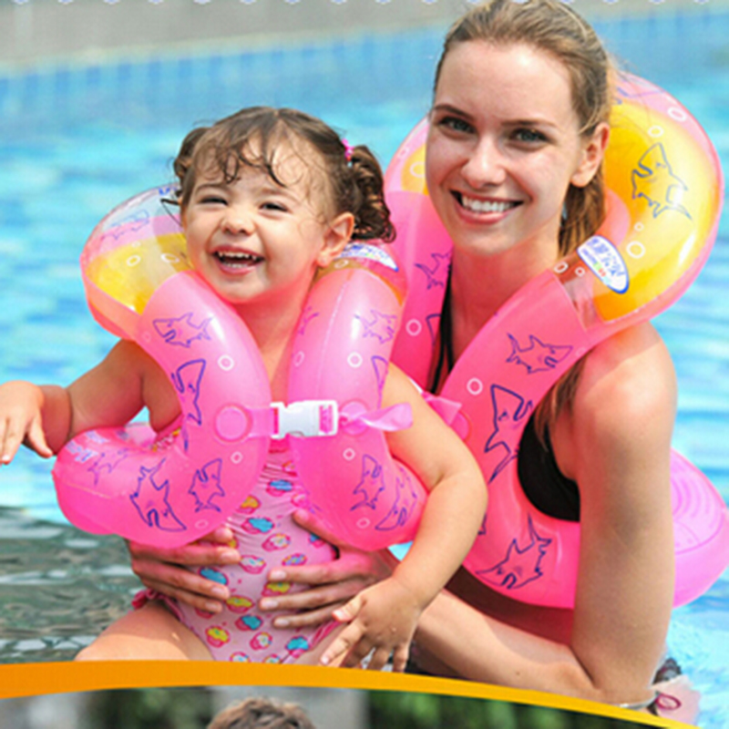 2016 Inflatable Swim Arm Rings Pool Children Adult Swimming Laps Baby Float Circle,Kids Adults Life Vest(China (Mainland))