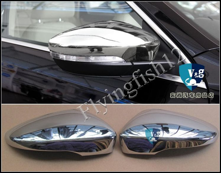 Chrome Rearview Side Mirror Cover Trim for Volkswagon VW Passat CC 2009 2010 2011