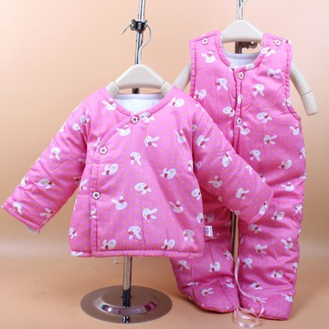 2016 New Cotton Winter Suit Baby Boy&Girl Clothing Set baby thick Suit Warm Tops Pants Infant Newborn Baby Winter Clothes Sets(China (Mainland))