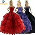 LeadingStar Elegant 6pcs Handmade Doll Dress for Barbie Dress Random Style Color Fashion Evening Party Clothes