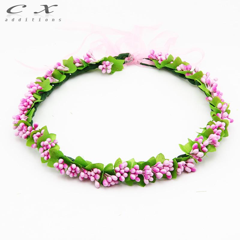 Bridal Flower Wreath For Hair : Bridal flower wreath artificial wedding hair