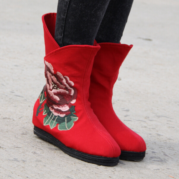 womens boots Martin boots fashion 2015 new ethnic style Wedges Embroidery Female Shoe Tassel snow boots SWXX124<br><br>Aliexpress
