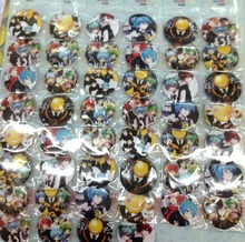 Assassination Classroom 4.5 CM 24/32/40/48x lot set new Cartoon& Animation PIN back BADGES BUTTONS PARTY BAG GIFT CLOTH