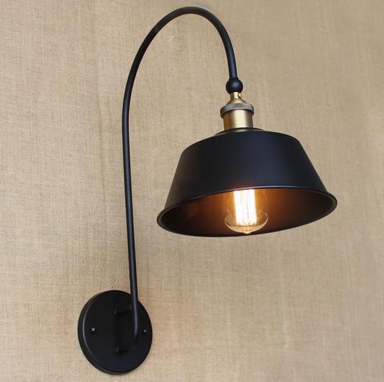 loft style d coratif edison applique murale ikea mur luminaires vintage industrielle applique. Black Bedroom Furniture Sets. Home Design Ideas