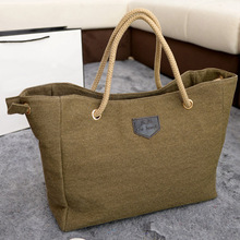 TOYL Canvas bags Single Or Double Rope Shoulder Bags Personality Contracted Large Handbags For Women bolsas femininas