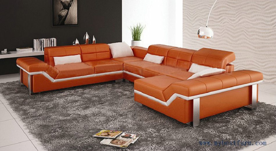 Free Shipping Modern Design Best Living Room Furniture Leather
