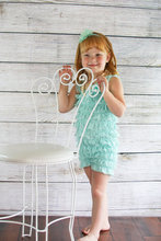 Baby Shower Gift Baby Girl Lace Romper, Aqua Lace Romper Photo Prop(China (Mainland))