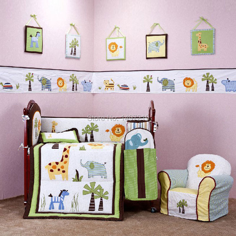 PH034 crib child bedding set  (1)