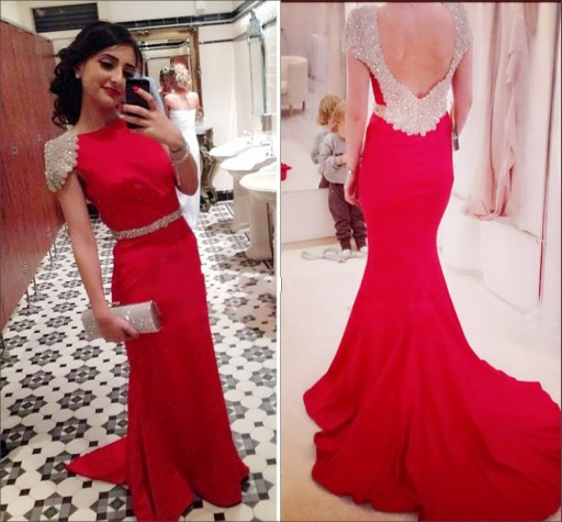 Popular Red Open Back Prom Dress-Buy Cheap Red Open Back Prom ...