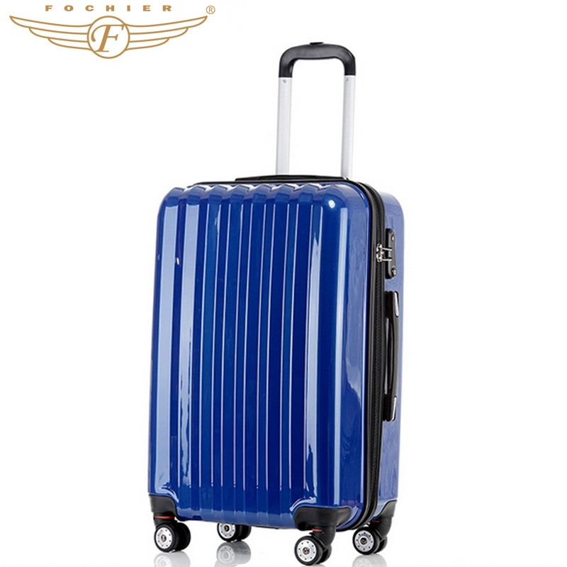 """1 piece 28"""" Inches ABS+PC Hard Shell Travel Luggage Suitcase In Elegant Solid Rolling Luggage Blue Color 2016 Fochier(China (Mainland))"""