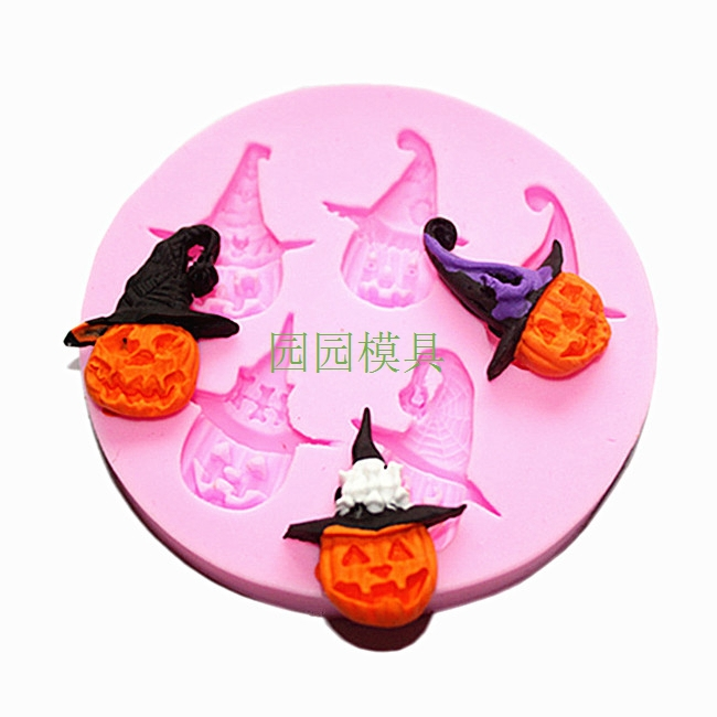 Gum Glue Cake Decorating : Wholesale Free shipping F1014 Pumpkin Doll Silicone ...