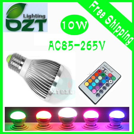 60pcs/lot AC85-265V 9W RGB Led Lighting Colorful LED Bulb Lamp Spotlight with Remote Control(China (Mainland))