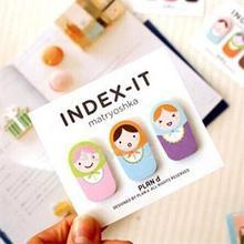 60 Sheets Mini Bookmark Cute Cartoon Bookmark Energy Saving Paper Bookmark School Supplies(China (Mainland))