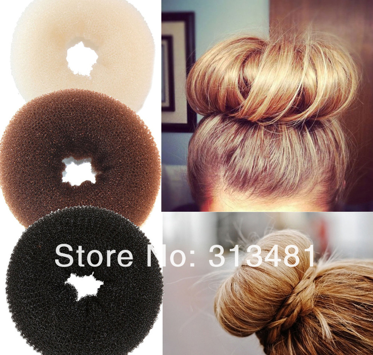 Free shipping 2013 Hot selling DIY Pure Knitted Hair Bun Hair Donut Make your Hair More Stylish Middle size 2pcs/lotОдежда и ак�е��уары<br><br><br>Aliexpress