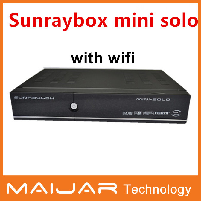 1pc free shipping Enigma2 HD digital satellite receiver linux based DVB-S2 HD receiver sunraybox mini solo(China (Mainland))