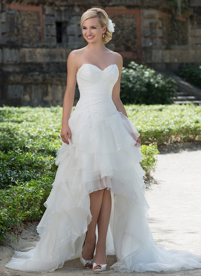 20 distinctive design sweetheart pleat organza with lace for 20 style wedding dresses
