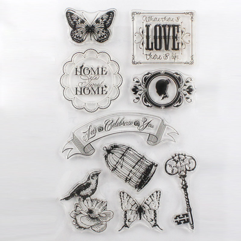 CCINEE 1PCS Clear Rubber Stamp Key Design Transparent Stamp DIY Scrapbooking/Card Making Decoration Supplies(China (Mainland))
