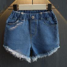 wholesale(5pcs/lot)-2016 shorts set summer personality  fringed edge Denim shorts for age 2-7 child girl(China (Mainland))