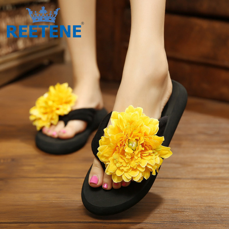 Fashion Sandals Women,Summer Flower Shoes Women,Slippers Summer Woman 2016 New Brand Flip Flops Women Sandales Femmes - REETENE store
