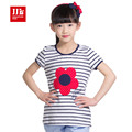 girls t shirt short sleeve kids lace t-shirts vintage size 4-11t girls blouse lace collar children clothing