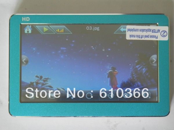 50pcs big Touch Screen HD mp3 mp4 player 4GB support mutil format mutil language 4 colors DHL Free shipping(China (Mainland))