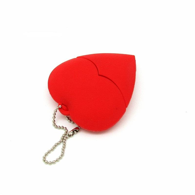 Red Heart USB Flash drive Genuine Pendrive 4GB 8GB 16GB 32GB real capacity Flash Memory Stick Pen drive U disk Wedding gift(China (Mainland))