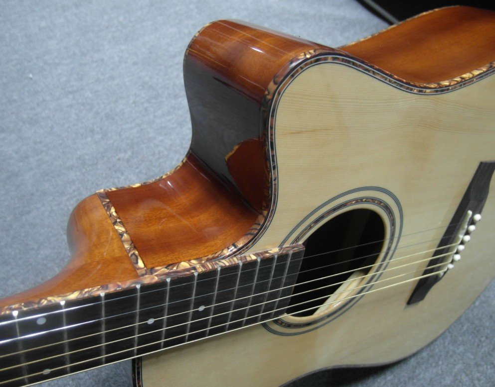 green shell binding  41inch acoustic guitar solid spruce good sound free guitar accessory<br><br>Aliexpress