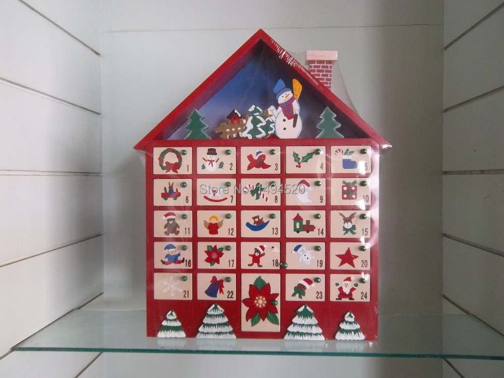 Wooden Advent Calender House | Calendar Template 2016