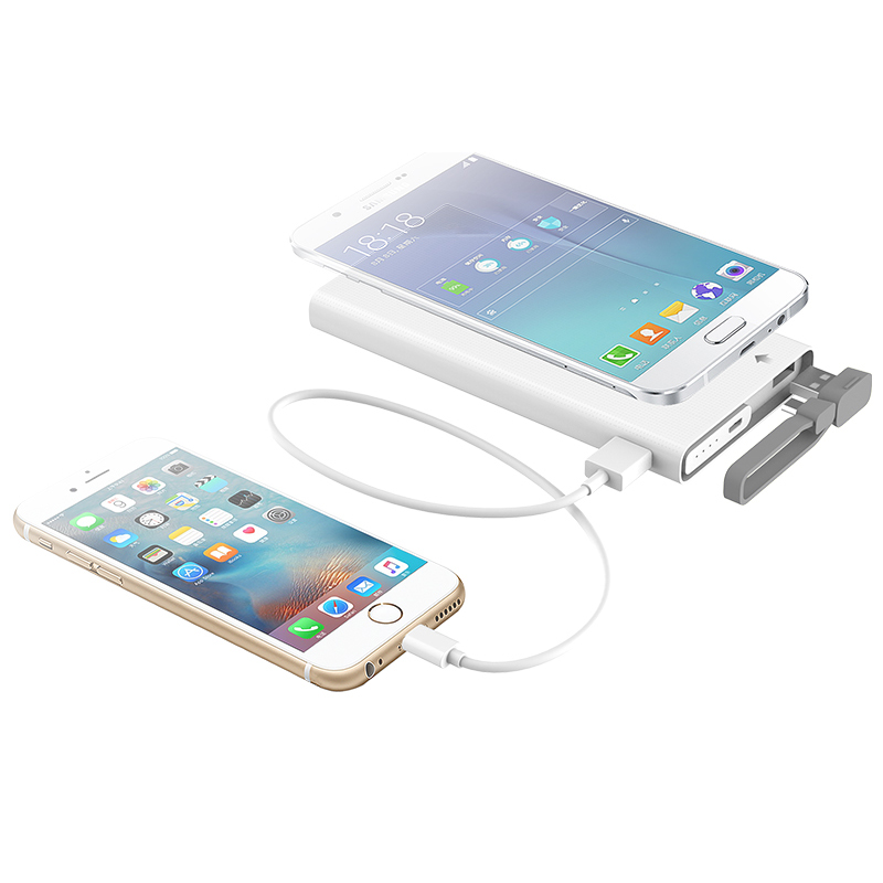10000mAh Power Bank Portable Charger Battery QC2.0 Fast Charge Function For iPhone 6/6s Samsung External Battery Pack Power Bank(China (Mainland))