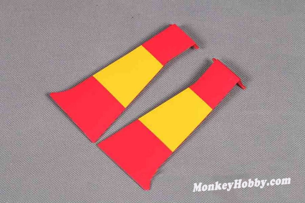 FREE SHIPPING FMS 1400mm / 1.4M P-51D Mustang V8 Red Tail Outer Fairing Door, SU135 Outer Fairing Door of FMS P-51D plane model(China (Mainland))