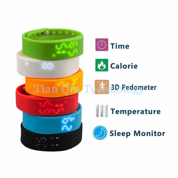 W2 Smartband Pedometer Sleep Tracker Thermometer Pedometer Smart Wristband Fitness Tracker Smart Watch Pulsera Inteligente(China (Mainland))