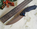 High Quality hand Tools Knife D2 Blade G10 Handle Blue Moon Outdoor hunt utility Knife Pocket