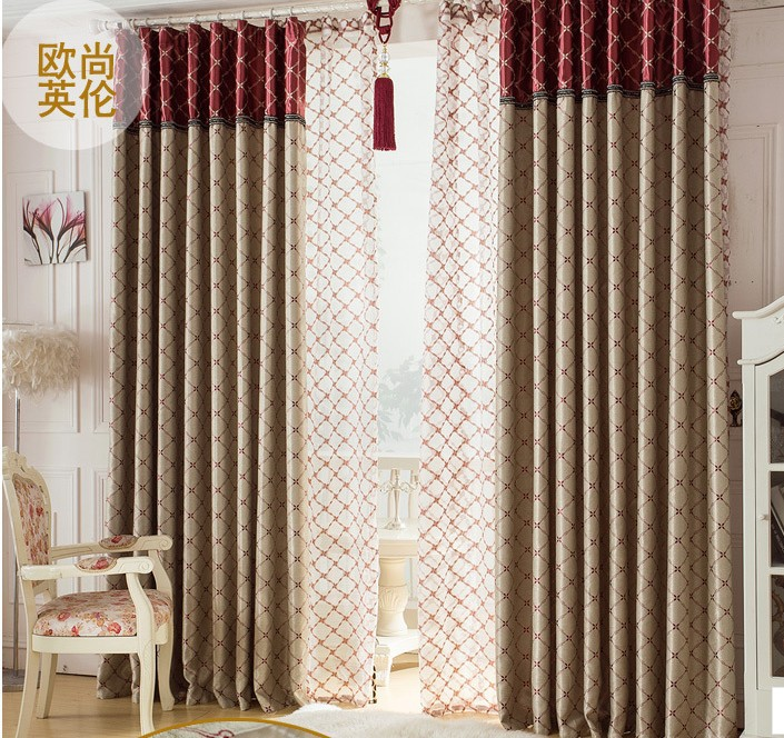 Blackout curtain with rings or hooks free triming for for Drapes or curtains difference