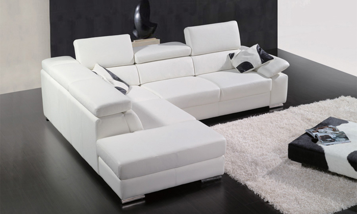 Design leather corner sofa picture more detailed picture for Living room ideas l shaped sofa