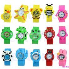 Cute Cartoon Unisex Children Kid Sports Bendable Rubber Strap Quartz Wrist Watch Free Shipping