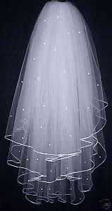 New 3T White Wedding Dress Veil Bridal ivory veils bridal veil with comb(China (Mainland))