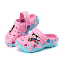 2017 אופנה חדשה נעלי גן ילדי ילדי cartoon תינוקות קיץ סנדל נעלי בית סנדלי ילדים גן ילדים באיכות גבוהה(China)