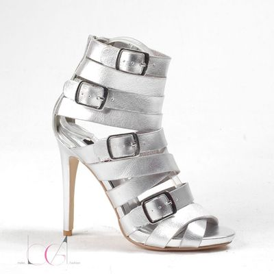 2016 female sandals gold / silver thin heels sandals high heels shoes gladiator heels open toe sandals(China (Mainland))