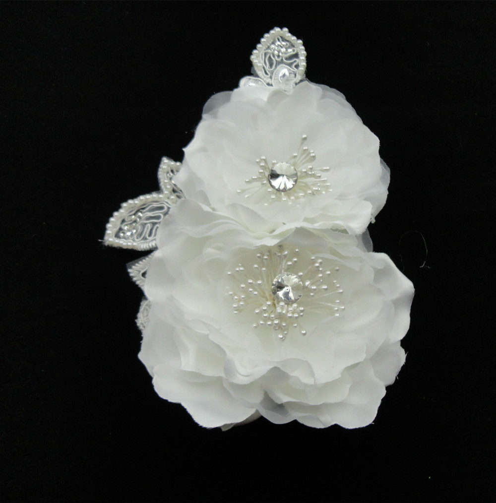 2014 Stock Free Samples Wedding Hair Accessory Bridal Flower with lace(China (Mainland))