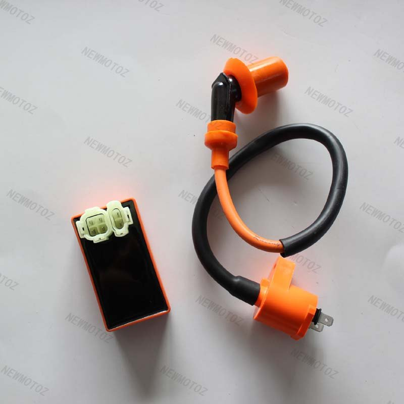 Performance 6 pins AC Racing CDI box Ignition Coil for GY6 50 150 Moped Scooter(China (Mainland))