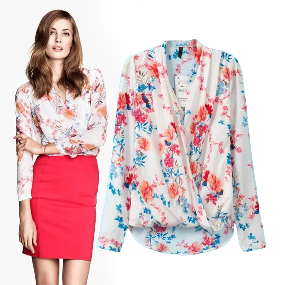 Similiar Female Flower Print Shirt Keywords