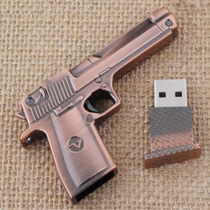 100% Real Metal Gun Genuine Usb Flash Drives 16GB 32GB 64GB Pen Drive 1TB 2TB Flash USB 2.0 Memory Stick 128GB Mini Key Boy Gift(China (Mainland))
