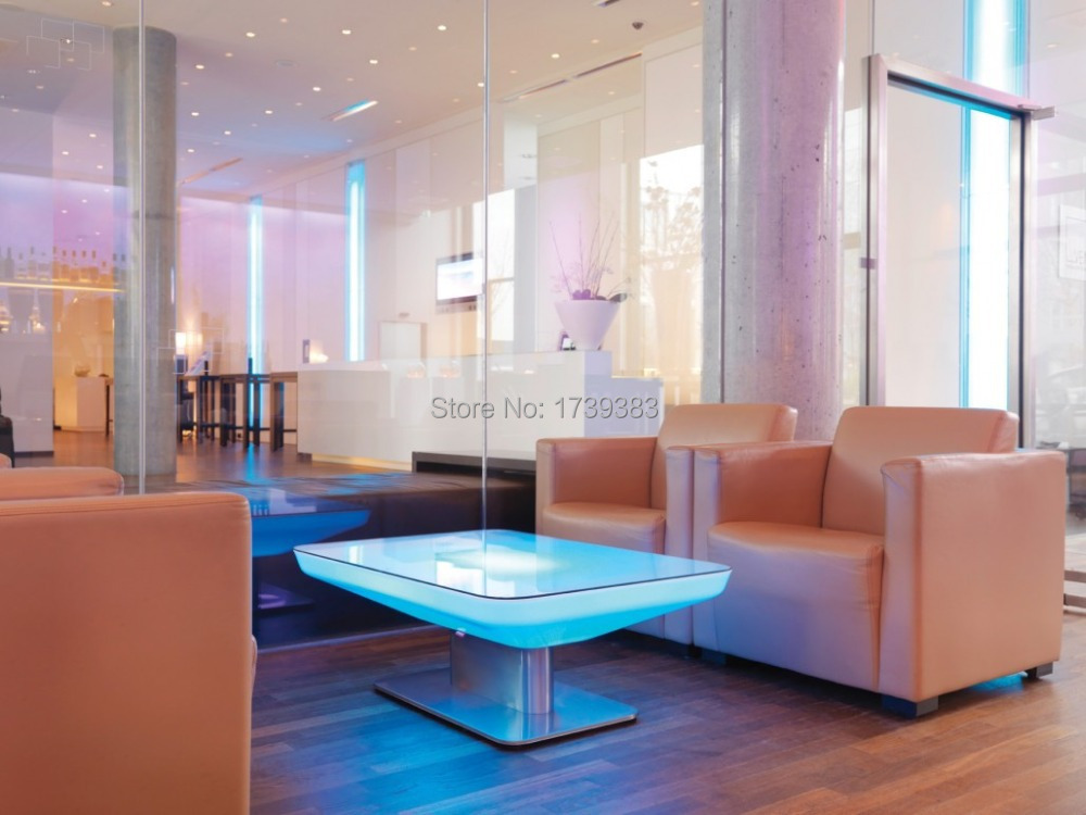 H46 Led Illuminated Furniture Dining table for 4 people,STUDIO LED,led coffee table for bar,meeting room,living room or events(China (Mainland))