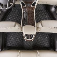 Car Foot Mats Specially Case for Hyundai Santa Fe i30 ix35 Coupe Genesis Accent Veracruz Elantra Floor Carpets 3D Covered Fully(China (Mainland))
