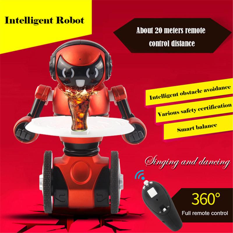 Best Deal WLtoys F1 Lightweight 2.4G USB Charging Intelligent Balance G-Sensor Remote Control Toy RC Robot Model Kids Gift(China (Mainland))