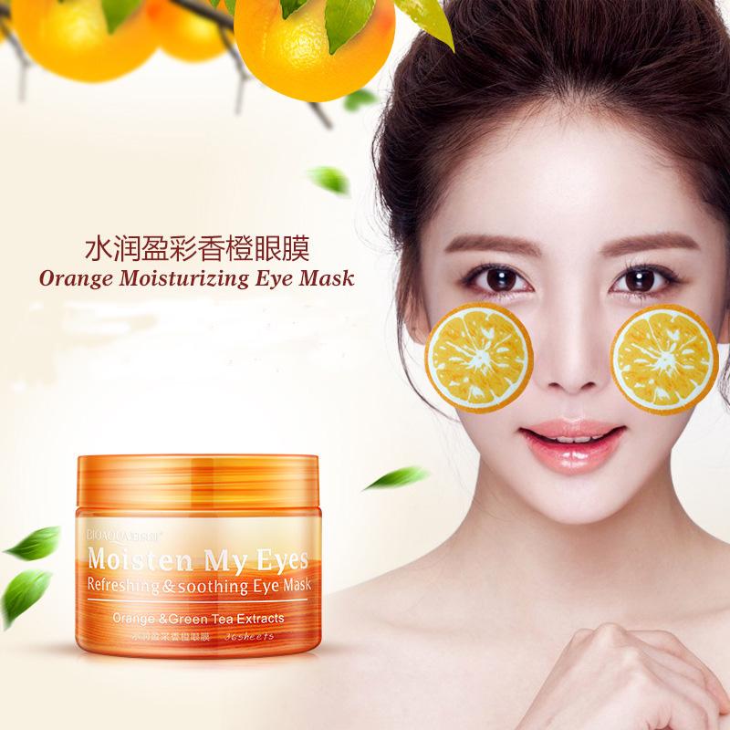 BIOAQUA 36 Sheets/Bottle Moisturizing Ageless Under Eye Dark Circle Remover Orange Eye Mask Black Eye Patch(China (Mainland))