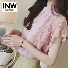 Buy Women Blouses Summer Chiffon Lace Blouse 2017 Blusa Feminina Tops Fashion Chemise Femme Shirts Lace Spliced Women Blusas for $8.81 in AliExpress store