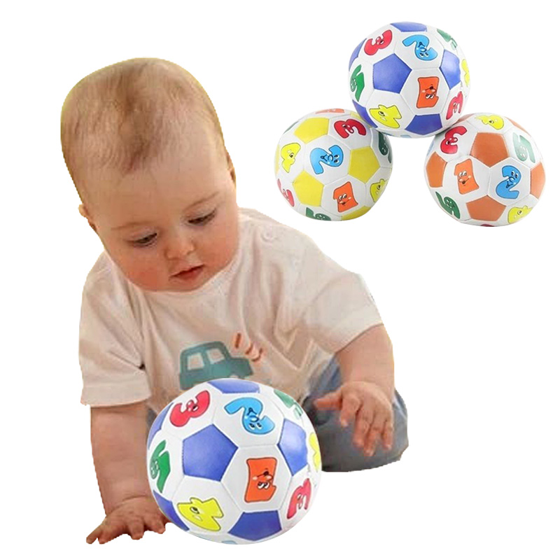 2016 Children Kids Educational Toy Baby Learning Colors Number Rubber Ball Plaything Free Shipping (Random Color )(China (Mainland))